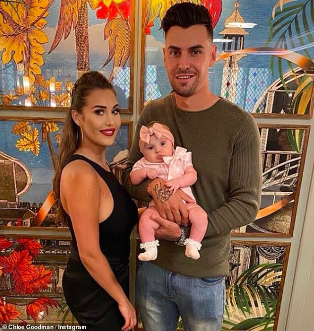 New mother: The new mother took to Instagram to share her news, six months after welcoming her daughter, Isla, with footballer Grant's fiance, 29.