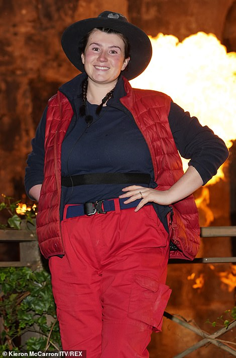 Slimmer figure: Hollie Arnold says she almost lost a stone of weight after surviving a Basic Ration Diet during her two-week appearance on I'm A Celebrity… Get Me Out Of Here!  but now lives in the hotel