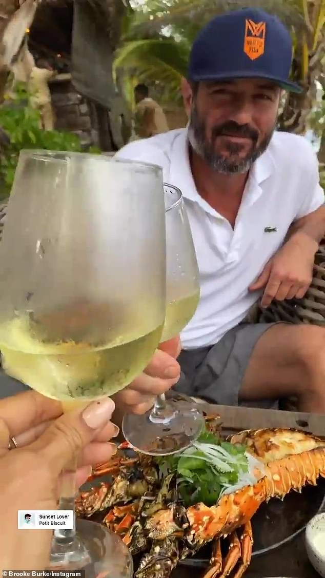 Best: The couple ate and dined their day, and feasted on lobster before settling into a glass of chardonnay