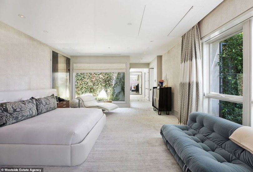 Another angle: And there are also windows to the side where there is a chaise lounge that makes the room look relaxing