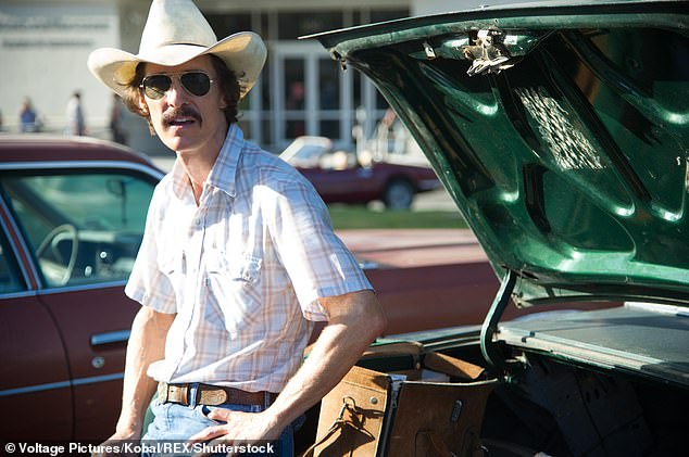 Hard work: Matthew McCounaughey spoke about the discipline required to follow a strict diet and exercise regimen to achieve and maintain such a low weight for the Dallas Buyers Club
