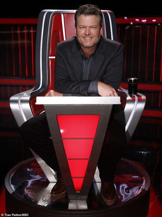 Country star: Blake Shelton, 44, had a leading five singers among the Top 17 thanks to his singer Taryn winning the 4-Way Knockout