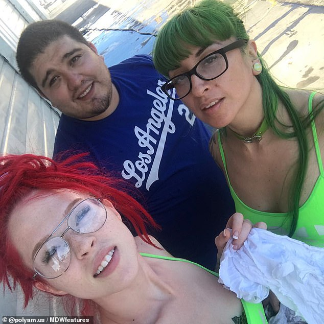 Jimmy Silva, 36, from California, has revealed he's trying to get both his wives pregnant at the same time so they can share the journey together. Pictured, with Summer (on the left) and ChaCha (on the right)
