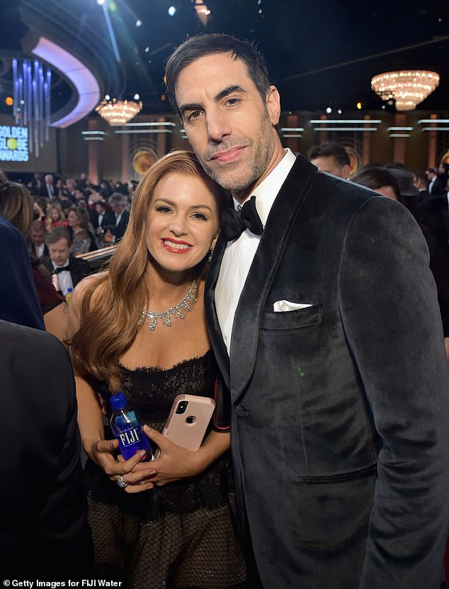 Fleeing Los Angeles:Isla and her family are believed to be living in Australia permanently, as the pandemic rages on in the United States. Pictured with her husband,Sacha Baron Cohen