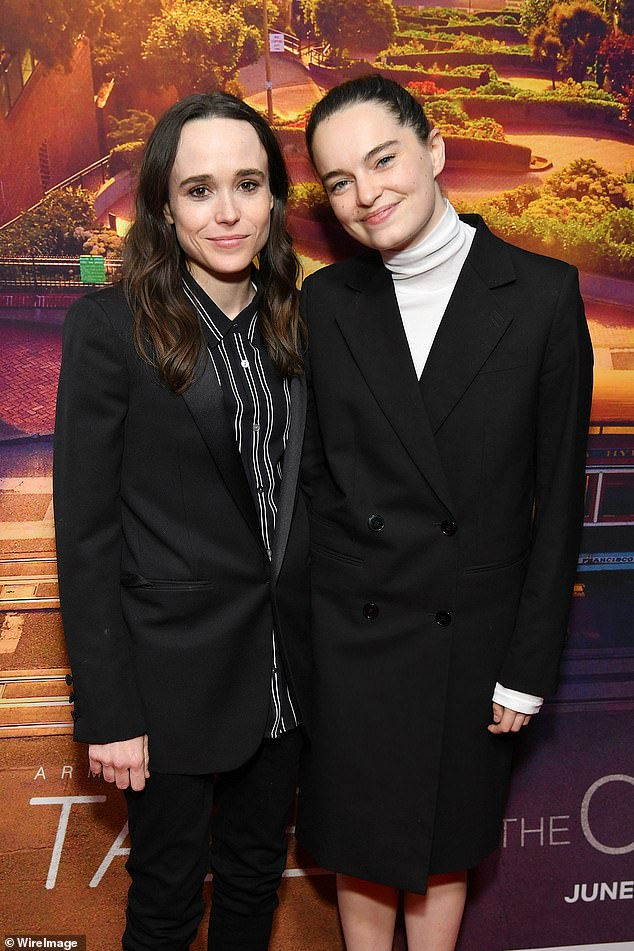 Opening up: Juno star Ellen Page has come out as a transgender male named Elliot, nearly three years after tying the knot with wife Emma Portner (seen together in June 2019)