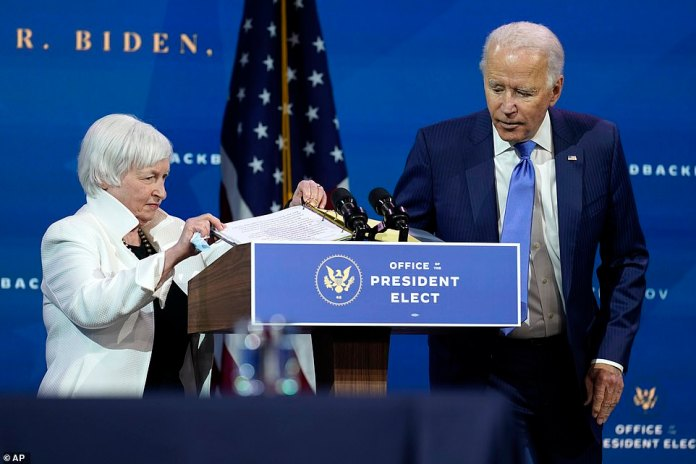 Where is my mask? Joe Biden must have shot the lectern as he handed his hand to Janet Yellen, who, if confirmed, will go down in history as the first female Treasury secretary