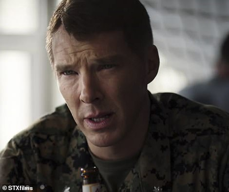 She confronts Benedict Cumberbatch as military prosecutor, Lt. Col. Stuart Couch in tense legal drama