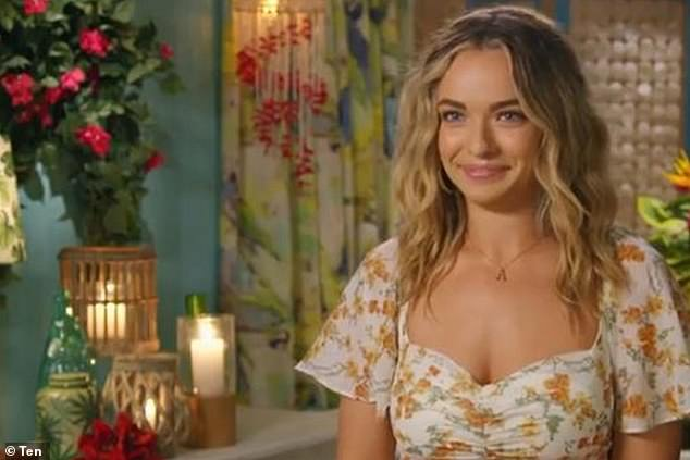 Trait: Mark Mathieson, who has worked on shows like The Bachelor and SAS Australia, said that most reality TV participants are hedonistic. Pictured: Bachelor in Paradise star Abbie Chatfield