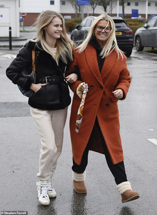 Outing: Kerry Katona was spotted at the supermarket with her daughter Lily-Sue on Monday