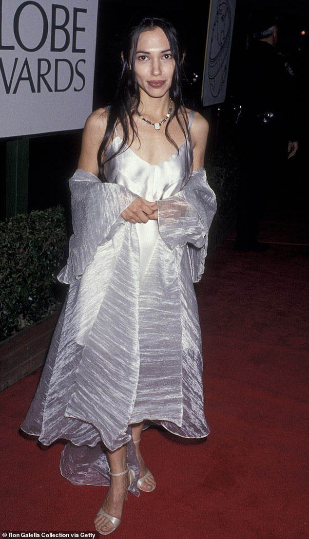 Back in the day: The actress is seen t the Golden Globe Awards in January 1995