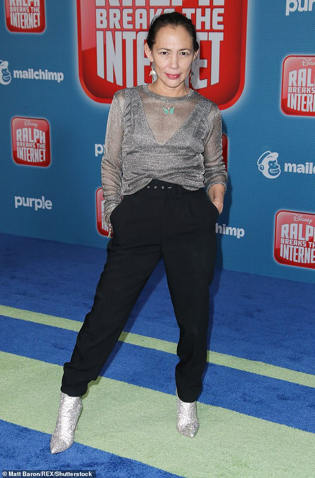 Signature role: The actress returned to her voice role for Disney in 2018's Ralph Breaks The Internet, as she is seen at the premiere in November 2018