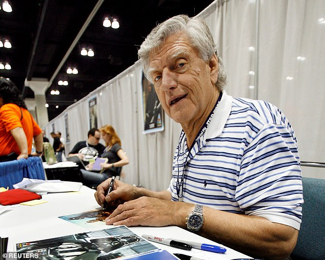 Prowse's agent Thomas Bowington told the BBC 'may the force be with him, always'. Pictured here is Prowse signing autographs at a Star Wars celebration event in LA in 2007