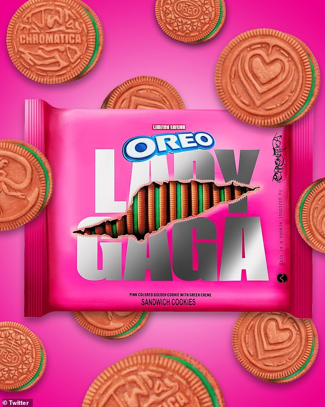 Gaga, ooh nom nom! Lady Gaga also has her own limited-edition Oreos with pink cookies and green creme coming out this month
