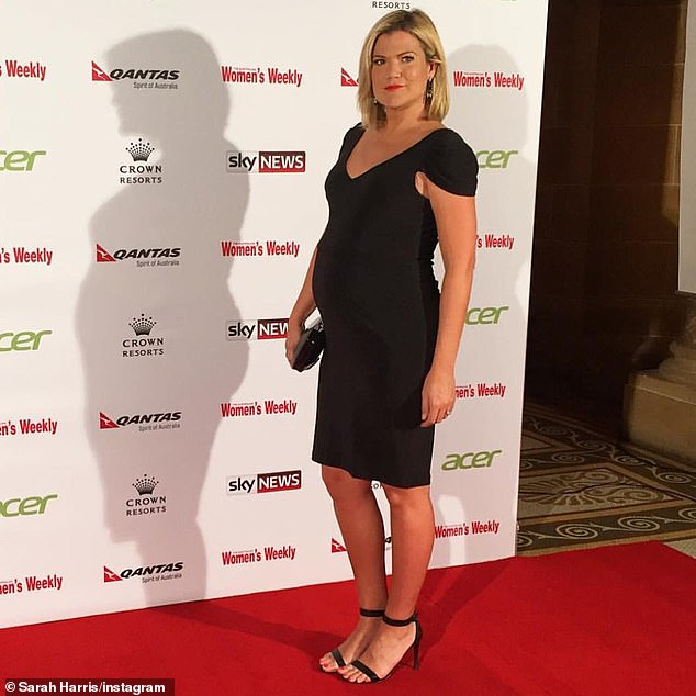 Devastating: Sarah suffered a devastating miscarriage back in 2015. The 39-year-old told The Australian Women's Weekly this week that despite going on to welcome son Paul in December that year, that she was actually pregnant with twins and lost one of them. Pictured while pregnant with Paul