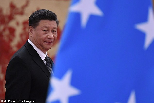 China's President Xi Jinping is pictured in December 2019 during a trip to Micronesia