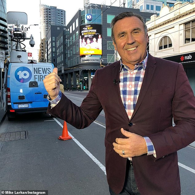He's back! TV veteran Mike Larkan, 56, (pictured) will return to Channel 10 just three months after he was made redundant by the network