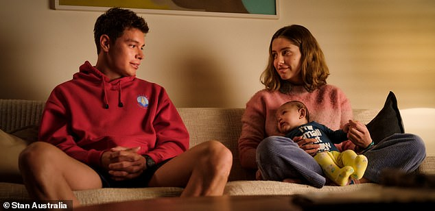 Baby joy: Season one of Bump followed the story of teenager Oly (Nathalie Morris), whose world turned upside down when she had a surprise baby with Santi (Carlos Sanson)
