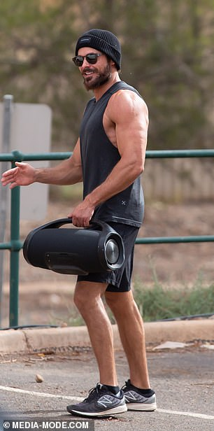 Bulked up: Zac appears much more buff than he did even a few years ago, as he prepares for his new movie role