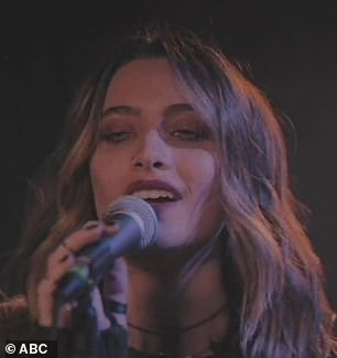 TV debut:Paris Jackson made her TV singing debut on Thursday night, performing her new song Let Down on Jimmy Kimmel Live