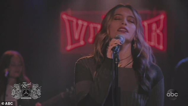 First single:The song she performed, Let Down, was first released in late October