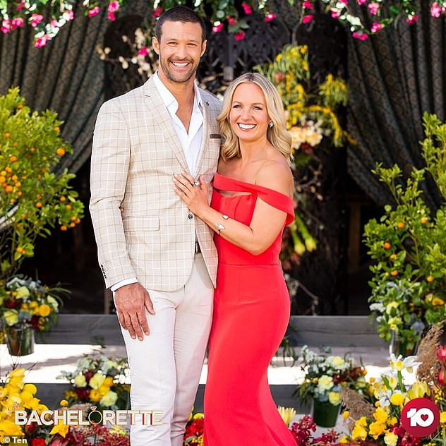 Over:Elly's sister, Becky, also failed to find love on The Bachelorette, confirming she'd split from her winning suitor, Pete Mann (left), just hours after the season finale