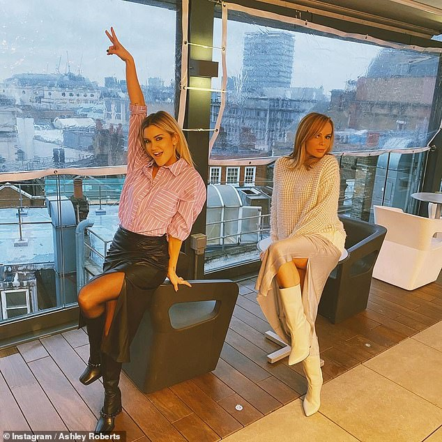 Work it: Amanda took to her Instagram Stories to share several shots of her look with colleague Ashley Roberts