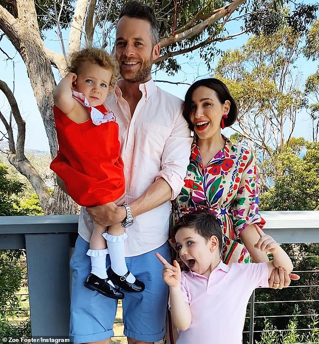 Money moves: Zoë Foster Blake and husband Hamish have spent $8.925 million on a property in the upmarket suburb of Vaucluse. Pictured withtheir children, Sonny, 6, and Rudy, 3