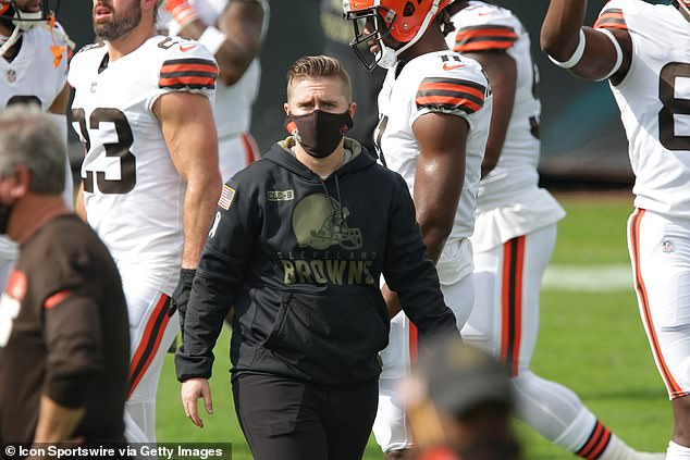 Callie Brownson also made history this weekend, becoming the first female to coach a position group during an NFL regular season game when she filled in as tight end coach for Cleveland