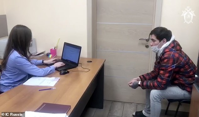 Russian police arrested Reshetnikov after previously releasing him after his initial questioning (pictured)