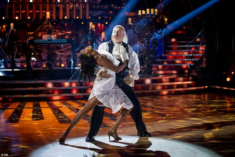 Drama: Bill Bailey and Oti Mabuse wowed with an Argentine Tango to the Phantom Of The Opera