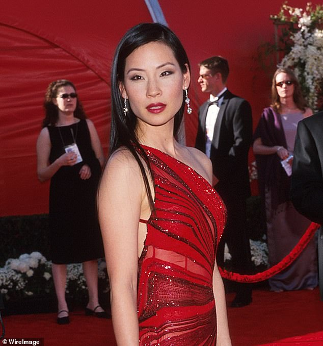 Role Model: Speaking more about the importance of Charlie's Angels, star Lucy, Awkwafina added, `` You want to be able to tell these stories and tell them authentically.  It is the representation. [Pictured is Lucy at the Academy Awards in 2000]