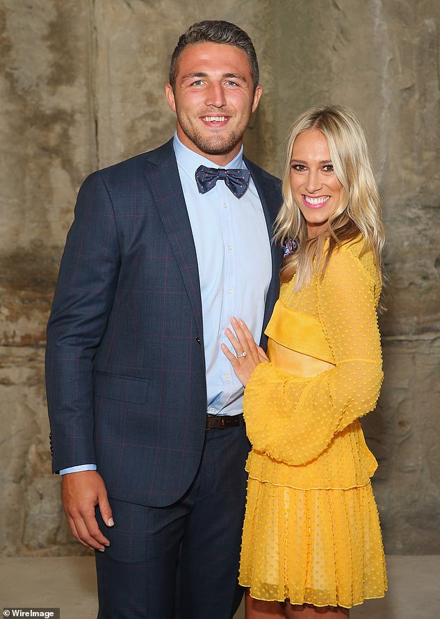 Ex-Husband: Phoebe is the ex-wife of former NRL South Sydney Rabbitohs player Sam Burgess.  The former couple finalized their divorce in April last year and are pictured in February 2016