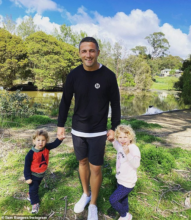 Family: Sam, 32, and Phoebe share two children, daughter Poppy, four, and son Billy, two (both pictured)