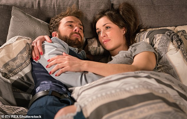 Struggle:The couple's marriage has been hanging by a thread since Shona lost her memory after she was shot in the 2019 Christmas special