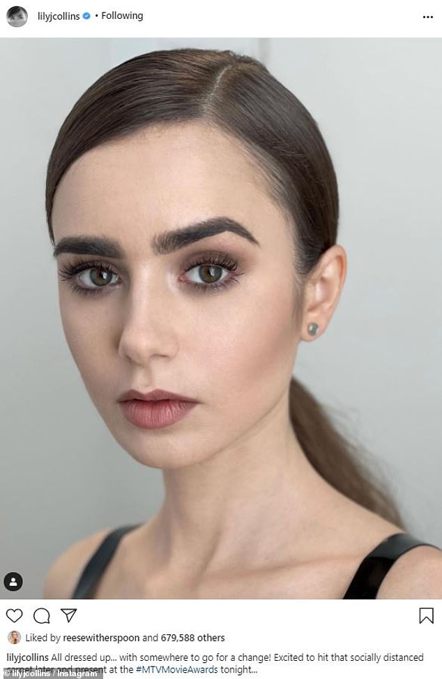 Perfection: On Instagram, Lily shared some elegant views of her impeccable makeup and hair ahead of the show