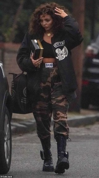 Jesy Nelson is pictured for the first time since announcing her 'extended break' from Little Mix