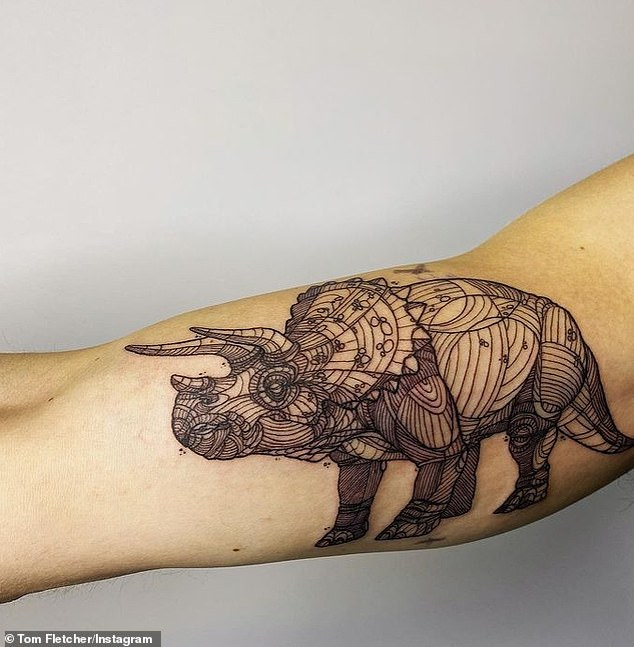 Tom Fletcher reveals new triceratops tattoo inspired by I'm A Celeb winning wife Giovanna