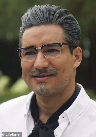 Variations: Mario Lopez (pictured) portrays a sexy Colonel Harland Sanders, the real-life founder of KFC, who was known for his white hair and glasses.