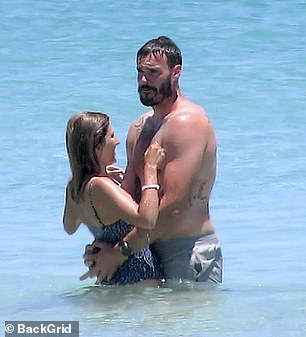 In love: They've been inseparable ever since they went public with their romance after The Bachelor finale aired in September