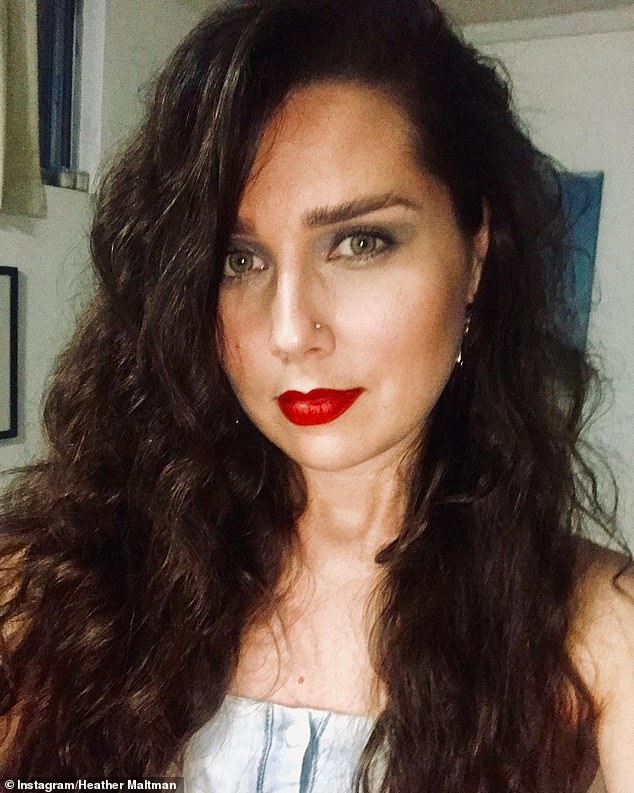 The dark side: Heather first debuted her new hairdo in November, showing off her curly dark locks in a post on Instagram