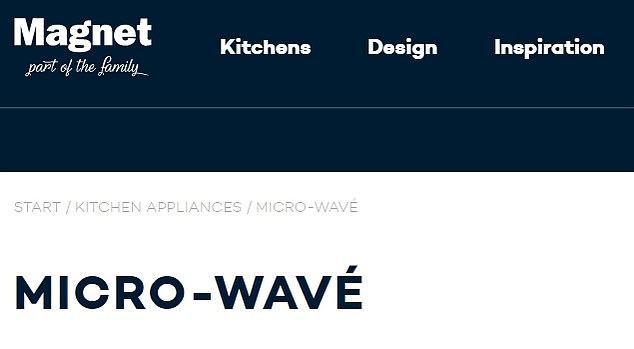 Getting in on the joke: Magnet kitchens have changed their website to read 'micro-wave' in a tribute to the cooking star