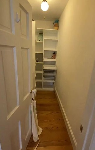 Closer look: Edmonds shared the inside of the family's walk-in closets