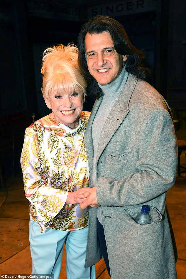 True love story: Dame Barbara Windsor's devoted husband Scott Mitchell has paid tribute to his 'wife, best friend and soul mate', after she passed away on Thursday (pictured April 2019)