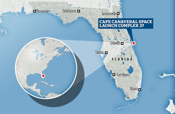 Liftoff from Cape Canaveral, Florida, took place shortly after 8pm EST last night, carrying its payload to the US National Reconnaissance Office.