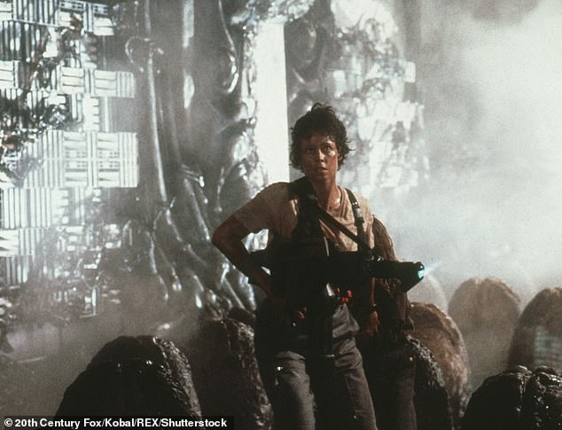 Star quality: Sigourney first rose to fame as Ellen Ripley in Ridley Scott's hit sci-fi film Alien in 1979 (pictured) and it's subsequent sequels