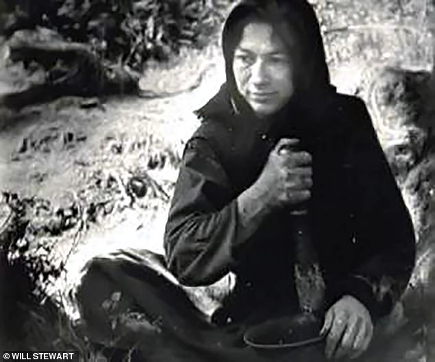 Much of her life has been spent as an 18th century peasant, growing her own food, shunning modern comforts, and living by the bible. Pictured:Lykova in an old photo