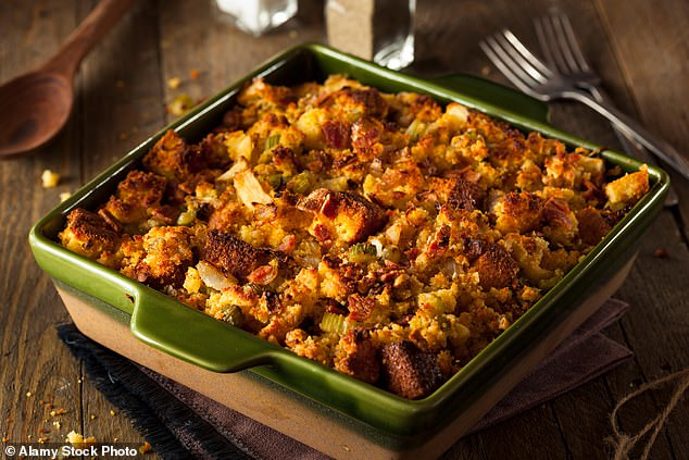 This gluten-free pork stuffing uses parsnips, celery and apples