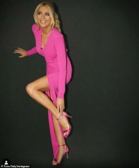 Strictly Come Dancing's Tess Daly dazzles in a pink thigh-slit dress
