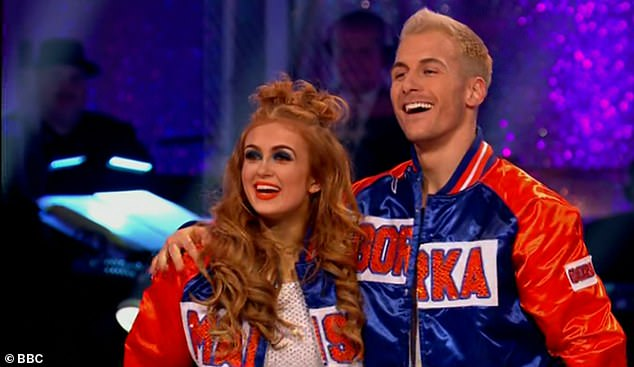 Success:Strictly Come Dancing's Maisie Smith topped the leaderboard during Saturday night's semi-final with a perfect score of 30 points