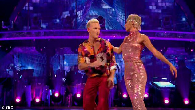 Comments: Shirley saidshe could tell that being in the semi-final meant so much to him, adding: 'You give everything on dancefloor, you give 100%'